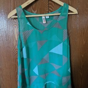 Route 66 Meduim Green Tank Top Blouse